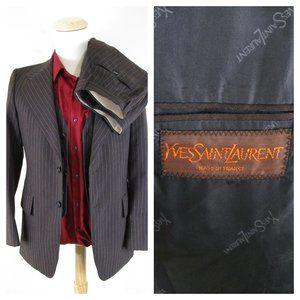 Vintage Yves Saint Laurent Pinstripe 3 Piece Suit